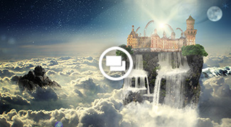 Photoshop Composing - Sky Castle